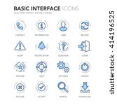 simple set of basic interface... | Shutterstock .eps vector #414196525