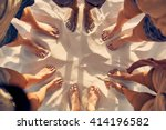 top view image of feet of young ... | Shutterstock . vector #414196582