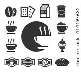 coffee shop icon set | Shutterstock .eps vector #414197632