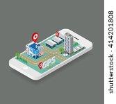 flat map gps navigation... | Shutterstock .eps vector #414201808