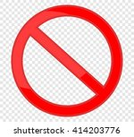 not allowed sign | Shutterstock .eps vector #414203776