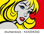 Pop Art Vector Illustration Of...