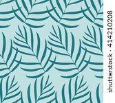 seamless tropical leaf pattern. ... | Shutterstock .eps vector #414210208