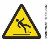 caution wet floor sign | Shutterstock .eps vector #414210982