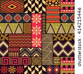 seamless vector ethnic pattern. ...   Shutterstock .eps vector #414215446