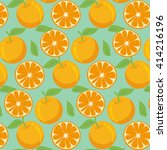 pattern with oranges. | Shutterstock .eps vector #414216196