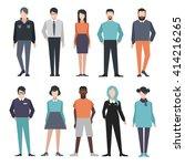 people. set | Shutterstock .eps vector #414216265