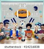 american football team field... | Shutterstock . vector #414216838