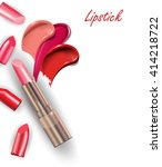 pink   lipstick and  ... | Shutterstock .eps vector #414218722