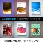 brochure template  flyer design ... | Shutterstock .eps vector #414218992