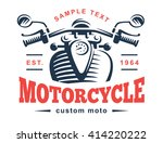 motorcycle logo illustration.... | Shutterstock .eps vector #414220222