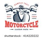 Motorcycle Logo Illustration....