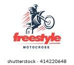 motorcycle logo illustration ... | Shutterstock .eps vector #414220648