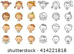 set of different kids with... | Shutterstock .eps vector #414221818