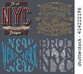 new york city typography... | Shutterstock .eps vector #414222196