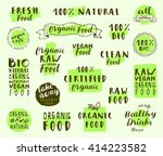 fresh food labels collection... | Shutterstock .eps vector #414223582