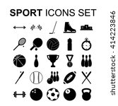 sport icons set. silhouette... | Shutterstock . vector #414223846