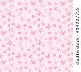 pattern baby girl    Shutterstock . vector #414227752