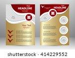 vector flyer template design.... | Shutterstock .eps vector #414229552