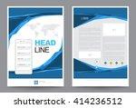 blue brochure flyer annual...   Shutterstock .eps vector #414236512