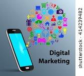 social media networking  mobile ... | Shutterstock .eps vector #414239482