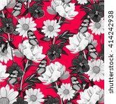 flower and butterfly   Shutterstock .eps vector #414242938