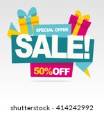 big sale banner. special offer. ... | Shutterstock .eps vector #414242992
