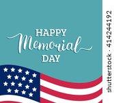 vector happy memorial day card. ... | Shutterstock .eps vector #414244192