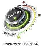 3d illustration of rating... | Shutterstock . vector #414248482