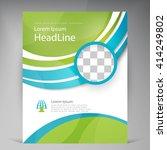 vector beautiful green flyer.... | Shutterstock .eps vector #414249802