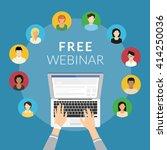 free webinar concept... | Shutterstock .eps vector #414250036