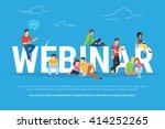 webinar concept illustration of ... | Shutterstock .eps vector #414252265