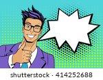 pop art man. young handsome man ...   Shutterstock .eps vector #414252688