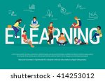 e learning school illustration... | Shutterstock .eps vector #414253012