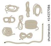 set of ropes. rope folded in... | Shutterstock .eps vector #414257086