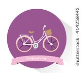 isolated banner with a bicycle... | Shutterstock .eps vector #414258442