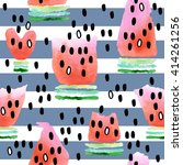 watermelon seamless pattern....   Shutterstock . vector #414261256