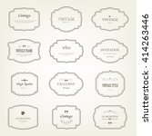 set of  label and elements for... | Shutterstock .eps vector #414263446