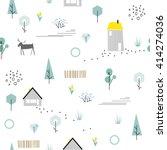 scandinavian geometric seamless ... | Shutterstock .eps vector #414274036