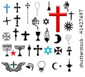 religion symbol set | Shutterstock .eps vector #41427697