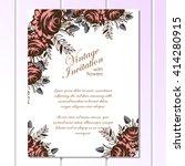 vintage delicate invitation... | Shutterstock . vector #414280915