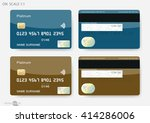 credit cards | Shutterstock .eps vector #414286006
