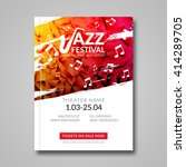 vector musical flyer jazz... | Shutterstock .eps vector #414289705