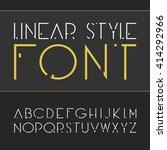 vector linear font.  simple and ... | Shutterstock .eps vector #414292966