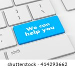 we can help you written on... | Shutterstock . vector #414293662