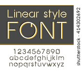 vector linear font.  simple and ... | Shutterstock .eps vector #414302692