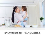 happy mother and baby in the... | Shutterstock . vector #414308866
