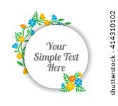 cute floral label tag  | Shutterstock .eps vector #414310102