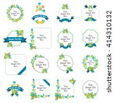 set of cute floral labels tag  | Shutterstock .eps vector #414310132