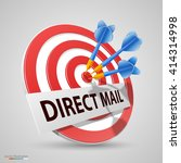direct mail target  dart icon ... | Shutterstock .eps vector #414314998